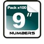 "9"" Race Numbers - 100 pack"